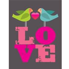 Poster Lovebirds, Grafikdruck