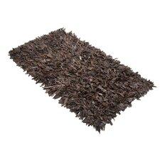 Handgearbeiteter Teppich Mut in Braun