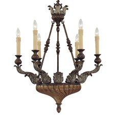 Amalfi 6 Light Candle Chandelier