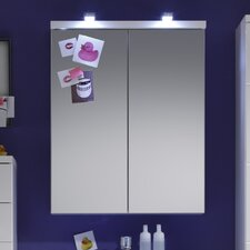 Sleek 65cm x 80cm Surface Mount Flat Mirror Cabinet