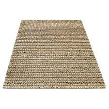 Handgearbeiteter Teppich Crestwood in Natur