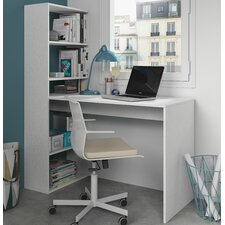 Phillip Writing Desk with Integrated Bookshelf