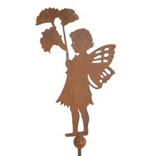 Girl with Flower on Spike Garden Stake