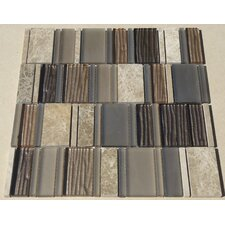 Loft Random Sized Marble and Glass Mosaic Tile in Multi-colored