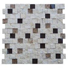 """Avenue 1"""" x 1"""" Stone Splitface Tile in Beige"""