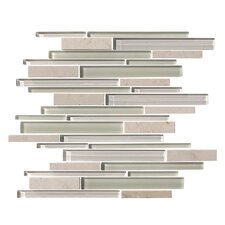 Marbella Random Sized Natural Stone and Glass Mosaic Tile in Multi-colored