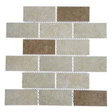 "Classique 2"" x 4"" Porcelain Subway Tile in Beige and Ivory"