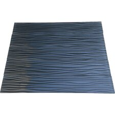 Dunes 3'' x 16'' Glass Mosaic Tile in Black