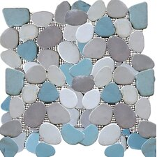 Rocha Random Sized Natural Stone Pebble Tile in Multi-colored