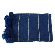 Moroccan Pom Pom Cotton Throw Blanket