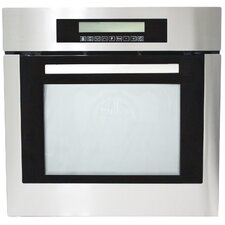 """24"""" Self Cleaning Electric Single Wall Oven in Black"""