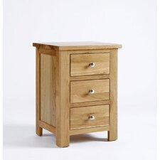 Lansdown 3 Drawer Bedside Table