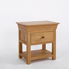Normandy 1 Drawer Bedside Table
