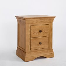 Normandy 2 Drawer Bedside Table