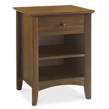 Alba Walnut 1 Drawer Bedside Table