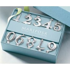 10 Piece Sand Cast Aluminum Number Candlestick Set
