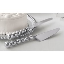 String of Pearls Pearled Cake Condiment Server Set