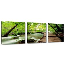 Berth Nature 3 Piece Photographic Print Wrapped on Canvas Set