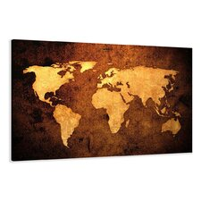 Leinwandbild Worldmap, Grafikdruck