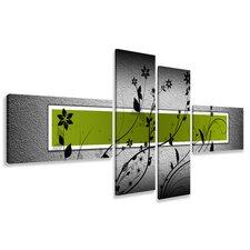 4-tlg. Leinwandbilder-Set, Grafikdruck