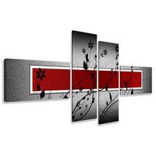 4-tlg. Leinwandbild-Set Grafikdruck