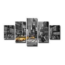 5-tlg. Leinwandbilder-Set New York Skyline, Fotodruck