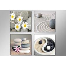 4-tlg. Leinwandbilder-Set Spa Stones Fotodruck