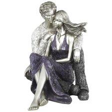 Figur Sitzendes umarmendes Paar Summer Of Love Cherish