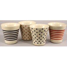 4 Piece Assorted Ceramic Tumbler Set