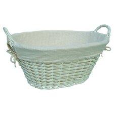 Laundry Storage Basket with Cream Lining
