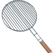 0.3cm Round Grill with Wooden Handle