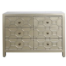 Ricardo Geometric 6 Drawer Wood Chest