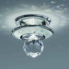 Small 1 Light Crystal Recessed Light