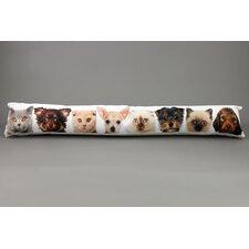 Zugluftstopper Hund und Katz aus Textil