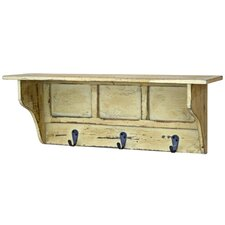 Distressed Shelf with Hooks