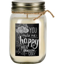 Happy Vanilla Jar Candle