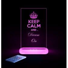Kinderlampe Slim Light Keep Calm & Dream on Koa