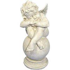 Figur Engel schlafend auf Kugel