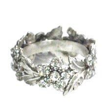 Nickel Flower Napkin Ring