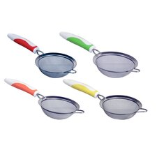 Small Strainer with Rubber Grip (Set of 3)