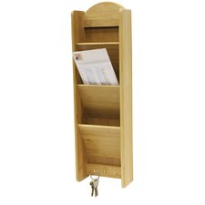 3 Tier Letter Rack with Key Hook