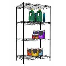 Wire Four Shelf Shelving Unit