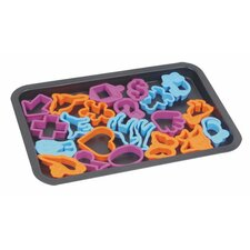 Cookie Sheet with 22 Cookie Cutters