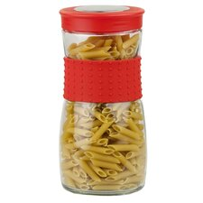 Glass Jar with Rubber Grip