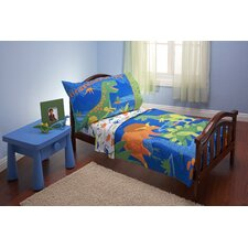 4 Piece Dinosaurs Toddler Bedding Set