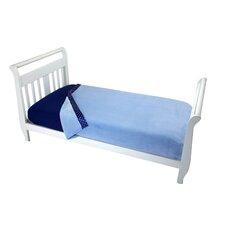 Solid Blue Toddler Coral Blanket
