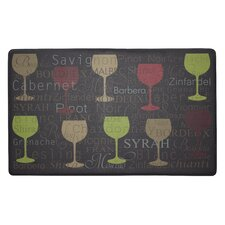 Wine Typography Anti-Fatigue Cushioned Chef Mat