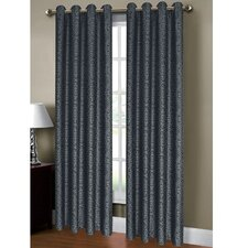 Mirabel Jacquard Extra Wide Grommet Single Curtain Panel