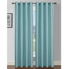 Jasper Printed Faux Silk Grommet Curtain Panel (Set of 2) (Set of 2)