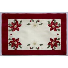 Holiday Embroidered Cloth Placemat (Set of 4)